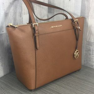 Michael Kors Ciara Luggage Lg TZ Tote Leather